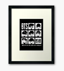 BTS WE ARE BULLETPROOF Chibi Framed Print