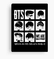 BTS WE ARE BULLETPROOF Chibi Canvas Print