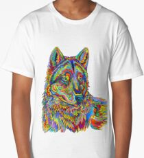 Psychedelic Wolf Long T-Shirt