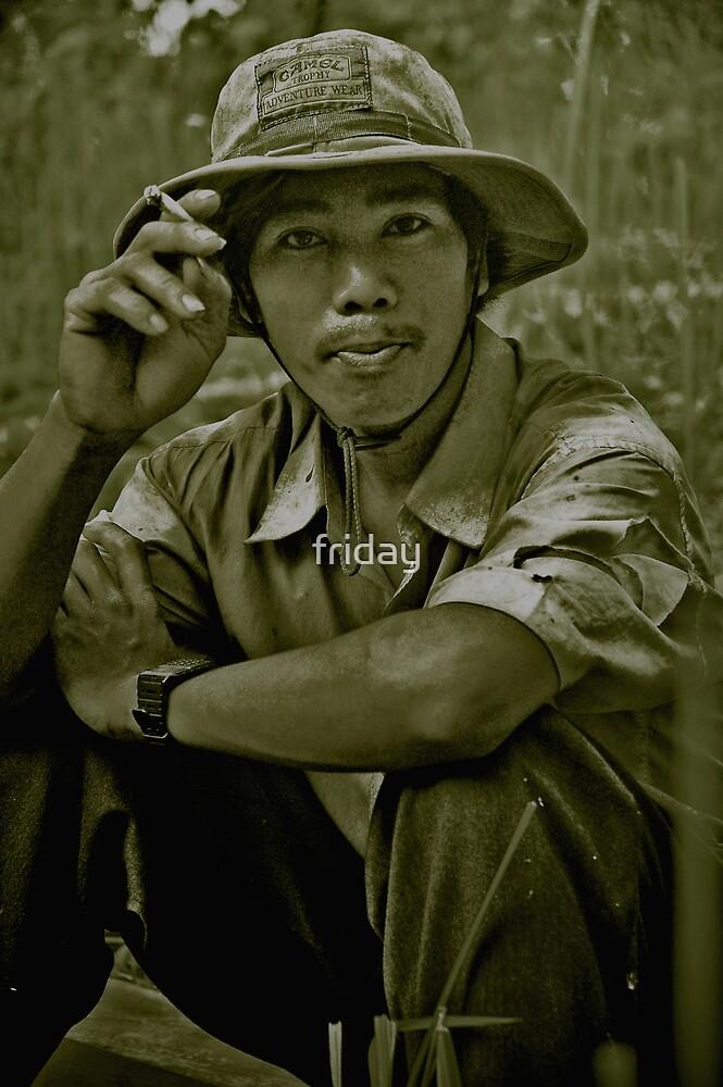 Portrait of Phnong friend by Amagoia  Akarregi