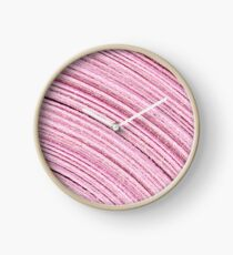 A Roll Of Pink Ribbon - Macro  Clock