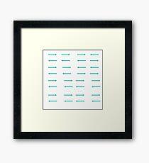 Arrows in Teal Framed Print