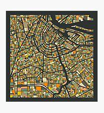 AMSTERDAM MAP Fotodruck