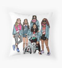 Girls Squad Throw Pillow