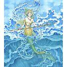 Umi Mermaid of the Ocean by meredithdillman