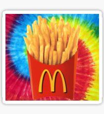 tie dye mcdonalds Sticker