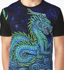 Chinese Azure Dragon Graphic T-Shirt