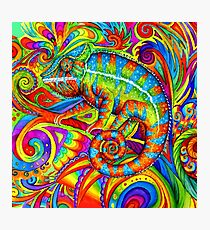 Psychedelizard Psychedelic Chameleon Photographic Print