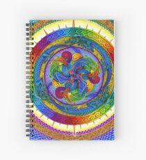 Epiphany Psychedelic Dragons Rainbow Mandala Spiral Notebook