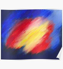 Abstract colorful acrylic painting Poster