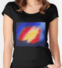 Abstract colorful acrylic painting Women's Fitted Scoop T-Shirt