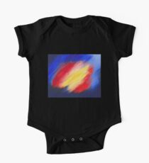 Abstract colorful acrylic painting One Piece - Short Sleeve