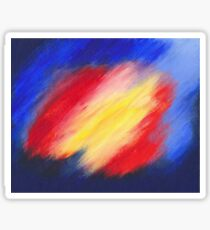 Abstract colorful acrylic painting Sticker