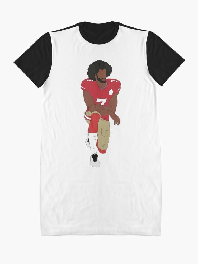 Vista alternativa de Vestido camiseta Colin Kaepernick se arrodilla