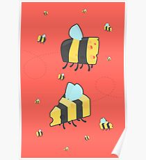 Bumble Cheese (red) Poster
