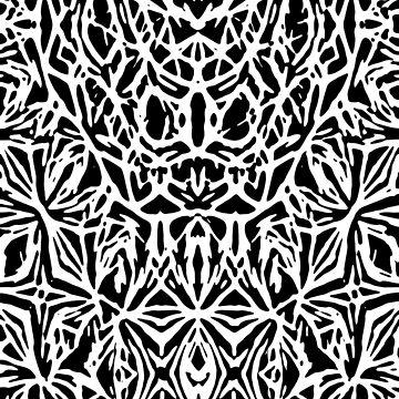 Bias Cut Linocut by Ra12
