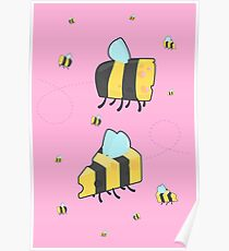 Bumble Cheese (pink) Poster