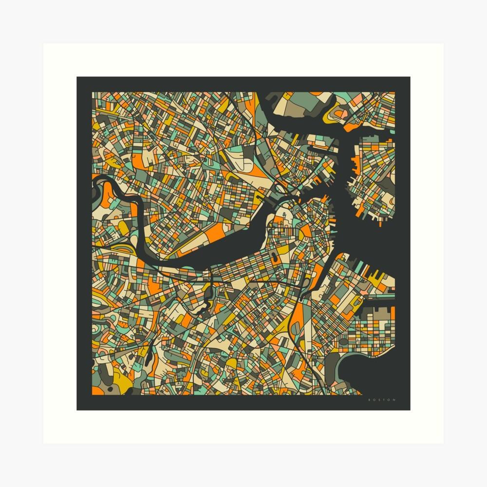 BOSTON MAP Art Print