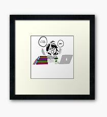 Ah! I have to study! Framed Print