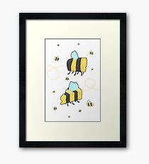 Bumble Cheese (white) Framed Print