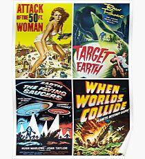 Sci-Fi-Film-Plakat-Collage # 13 der Fünfzigerjahre Poster