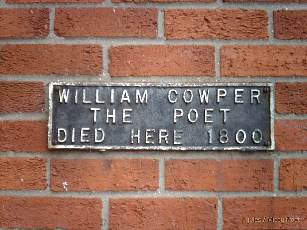 PROOF THAT COWPER DIED HERE by jules / Missy frost