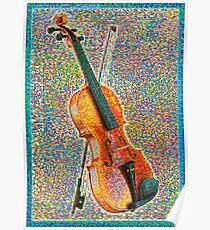 Bunte Violine Poster
