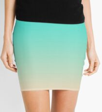 Bright Turquoise and Angelskin Tropical Paradise Seychelles Island Beach Mini Skirt
