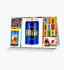 Canadian Beer Collection Greeting Card