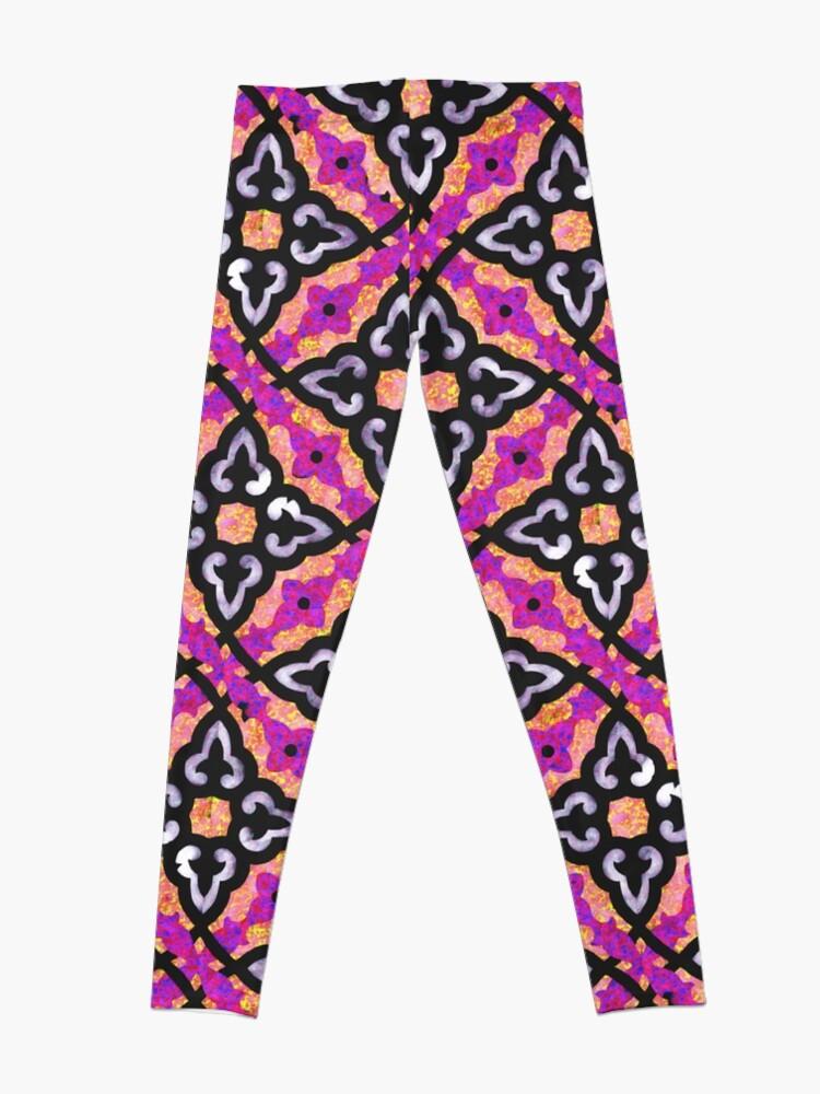 Alternate view of  Purple pattern (Burberry style) Leggings