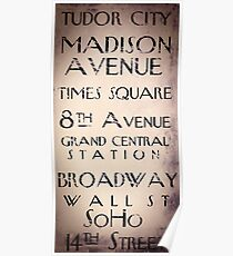New York City Sign Poster