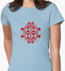 Mandala 11 Colour Me Red Womens Fitted T-Shirt