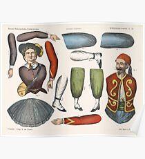 Vintage Paper Dolls, 1875 Poster