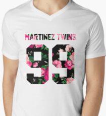 Martinez Twins - Colorful Flowers Men's V-Neck T-Shirt