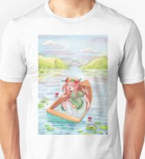 Anne of Green Gable's Lady of Shalott in leaky boat Unisex T-Shirt