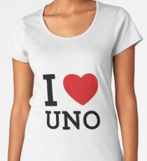 I Heart UNO Women's Premium T-Shirt