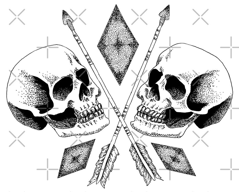 Double Skull by georgiamason
