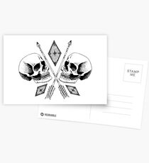 Double Skull Postcards