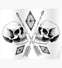 Double Skull Poster