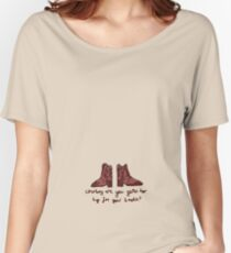 'Cowboy are you getting too Big for your Boots?' Women's Relaxed Fit T-Shirt