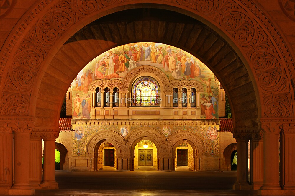 Memorial Church in Stanford Campus by Christophe Testi
