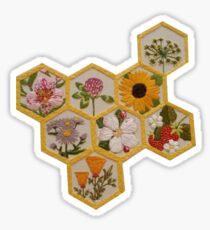 flowers in honeycomb Sticker
