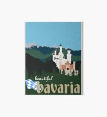 Lámina rígida Hermoso cartel de viaje vintage de Baviera - Castillo de Neuschwanstein