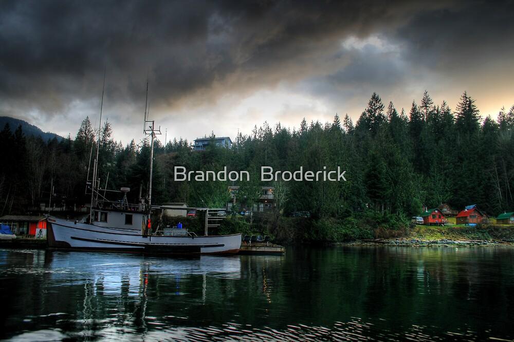 Dockside at Sundown by Brandon  Broderick