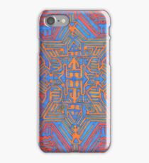 Blue Orange portal iPhone Case/Skin