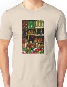 Parisian Fruit Market Display Unisex T-Shirt