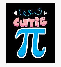 Cutie PI Math Shirt Photographic Print