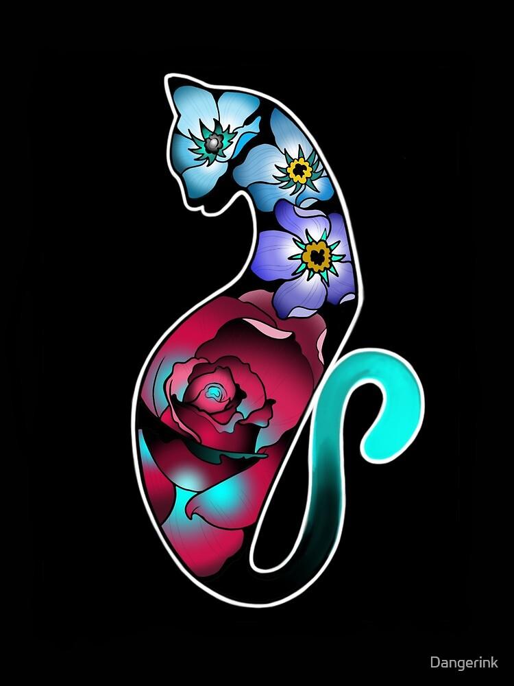 Floral Feline by Dangerink