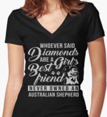 Australian Shepherd T Shirt Women's Fitted V-Neck T-Shirt