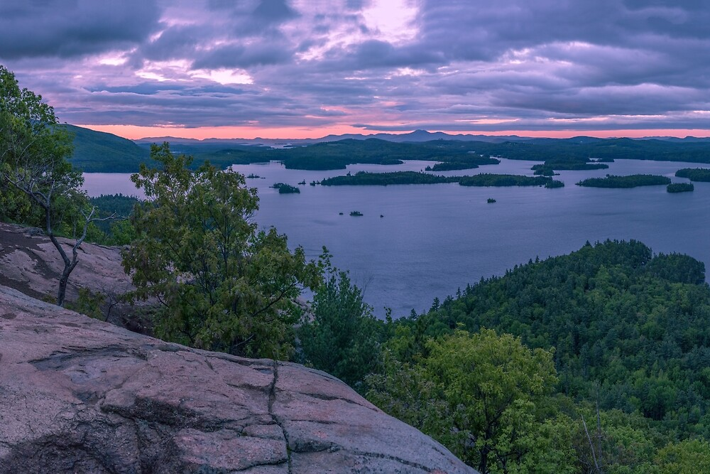 Squam Lake sunrise, New Hampshire by mattmacpherson
